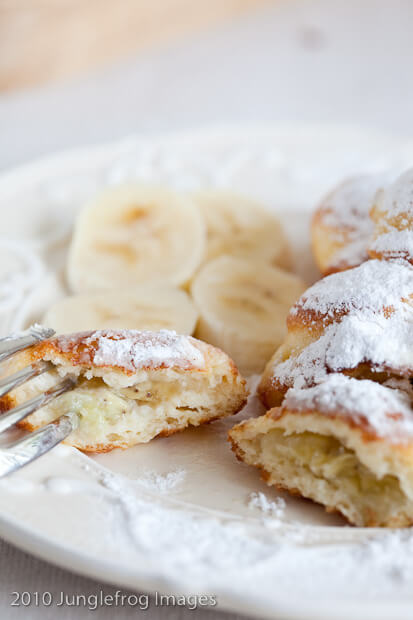 aebleskiver filled with banana