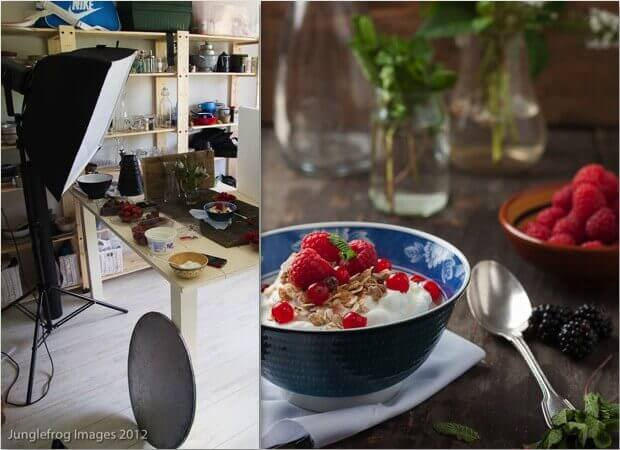 Artificial light foodphotography with softbox setup | insimoneskitchen.com