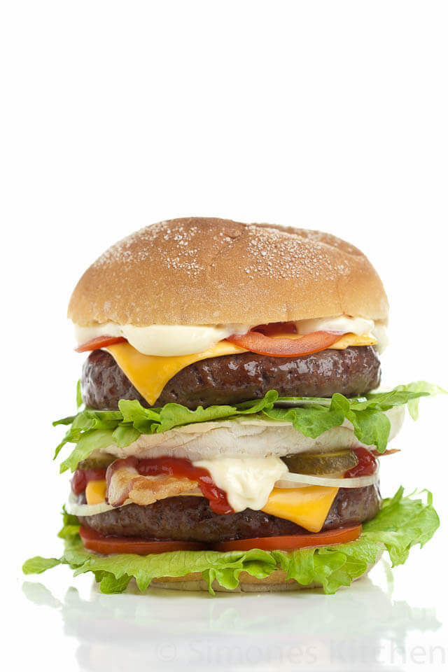 Hamburger for dude food tuesday | insimoneskitchen.com