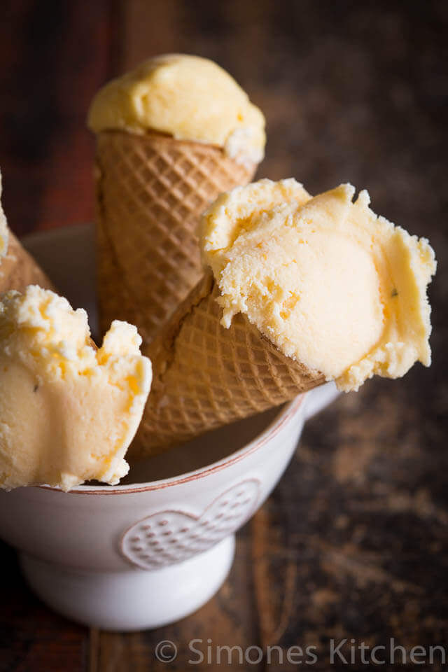 Orange thyme icecream | insimoneskitchen.com