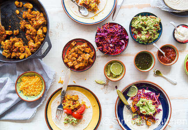 Tex Mex feast with fajita's | insimoneskitchen.com