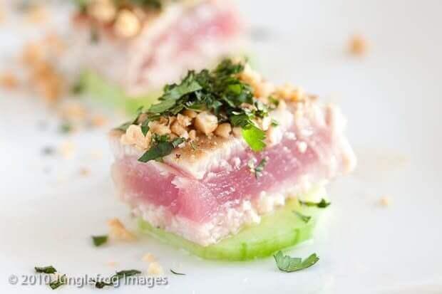 Orientaalse tonijn op een 39 krukje 39 van komkommer simone 39 s kitchen - Ideeen van voorgerecht ...