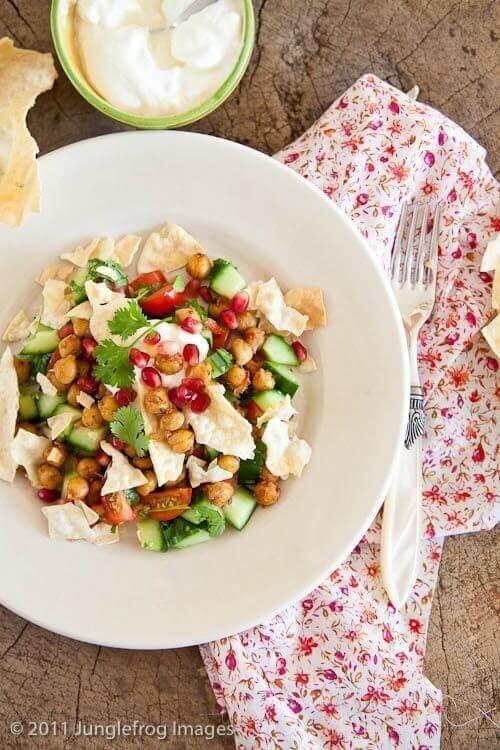 Junglefrog's Indiase salade Chana Chat