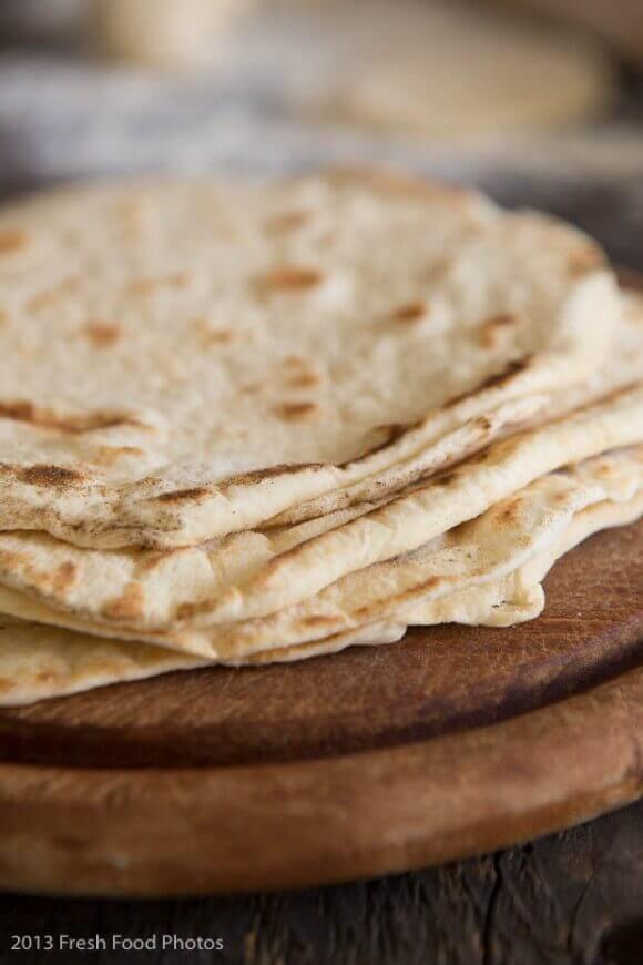 Stapel vers gemaakte tortilla simoneskitchen.nl