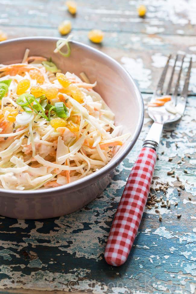 Zelfgemaakte koolsla (coleslaw)   simoneskitchen.nl