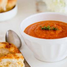 soep met wortel en tomaat