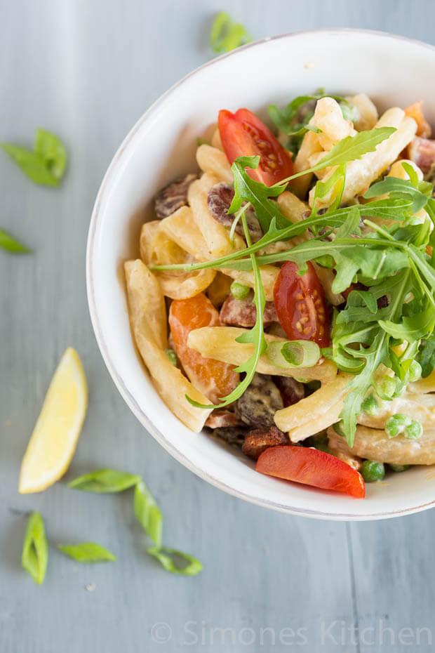 Lekker pittige pasta salade met chorizo | simoneskitchen.nl