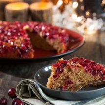 Cranberry upside down cake | insimoneskitchen.com