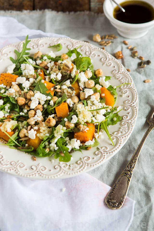 Salade met geroosterde pompoen | simoneskitchen.nl