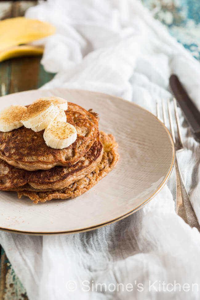 Boekweit pannenkoekjes met banaan | simoneskitchen.nl