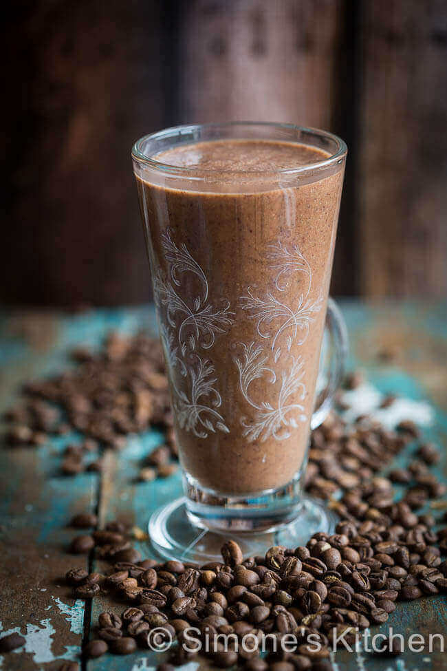Koffie smoothie met chocola en banaan | simoneskitchen.nl