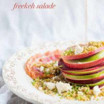 Biet appel en freekeh salade   simoneskitchen.nl