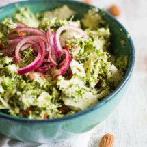 Broccoli salade met amandelen   simoneskitchen.nl