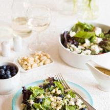 Salade met geitenkaas en blauwe bessen | simoneskitchen.nl