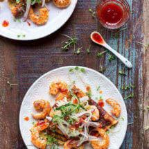 Aziatische omeletje met garnalen en chili jam | simoneskitchen.nl