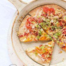 Supersnelle pizza van tortilla | simoneskitchen.nl