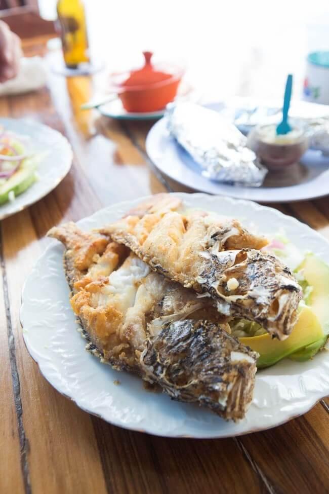 Verse vis bij purunchi