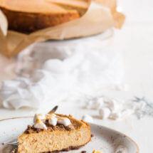 Pompoen cheesecake met gebrande marshmallows | simoneskitchen.nl