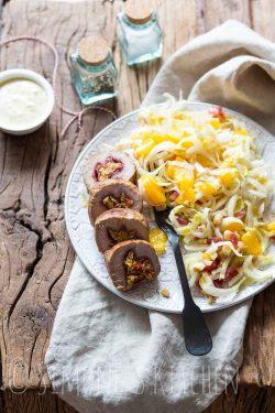 Gevulde varkenshaas met witlof salade | simoneskitchen.nl