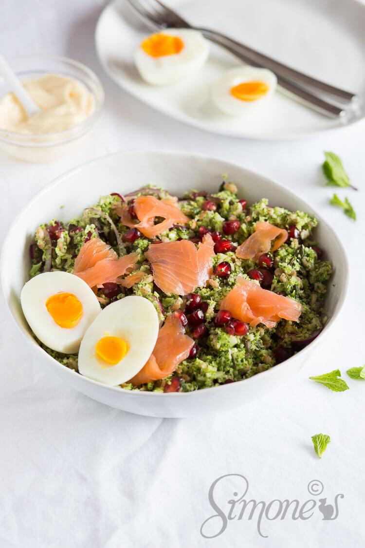 Broccoli salade met zalm | simoneskitchen.nl