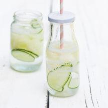 Meloen komkommer drankje met water | simoneskitchen.nl