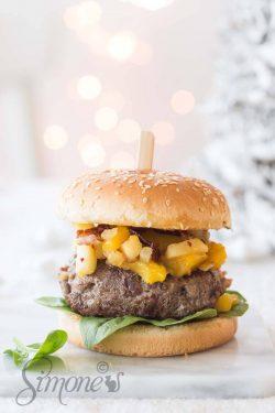 Kerstburger met ham, bacon en kastanjes   simoneskitchen.nl