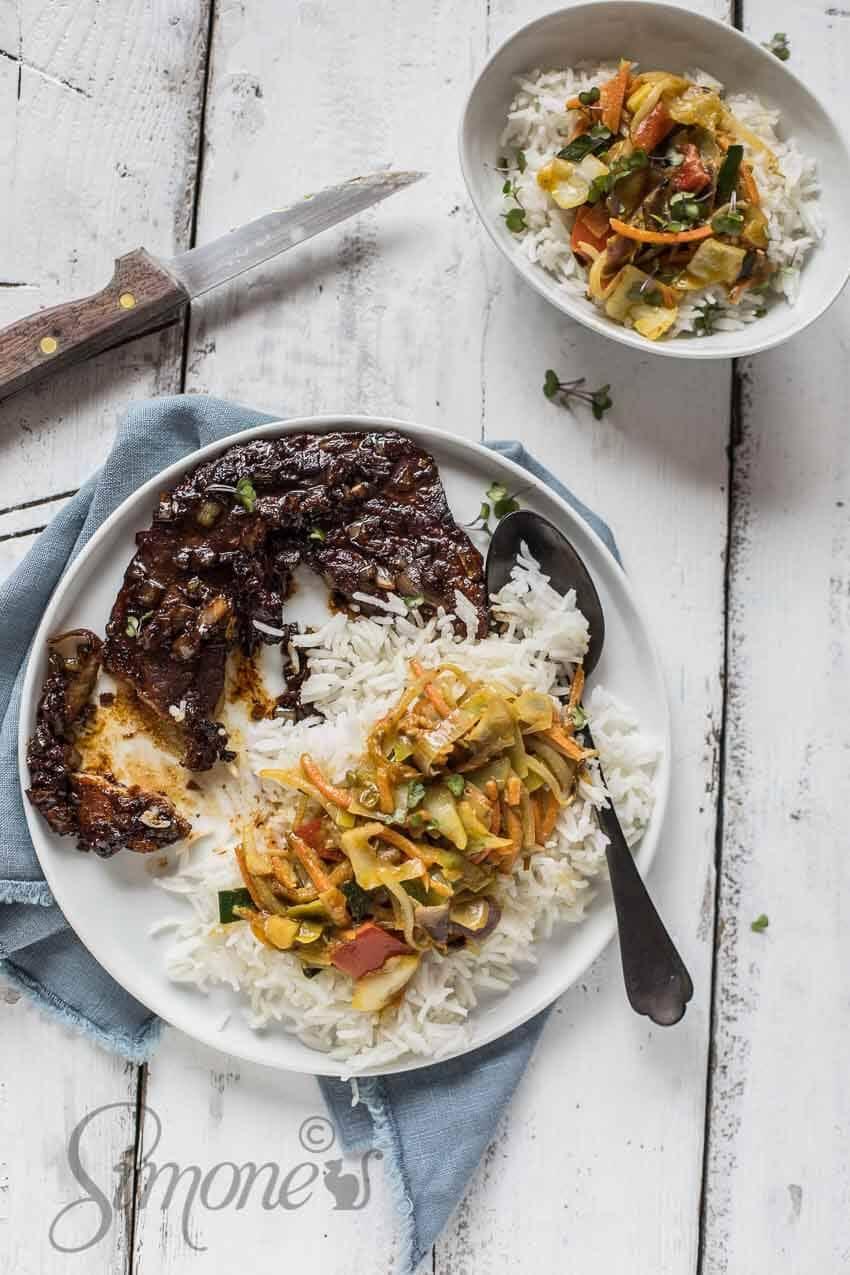 Indonesische speklap met rijst | simoneskitchen.nl