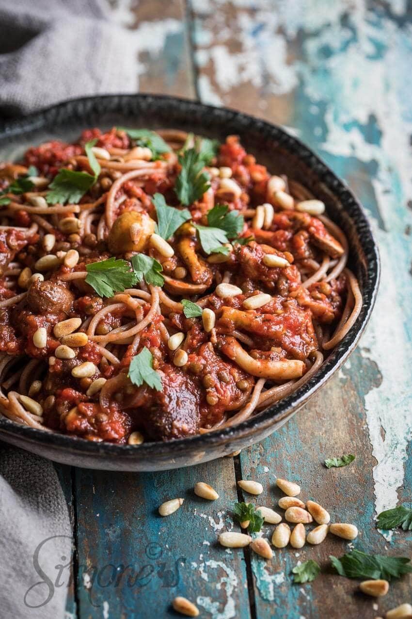 Spaghetti bolognese zonder vlees   simoneskitchen.nl