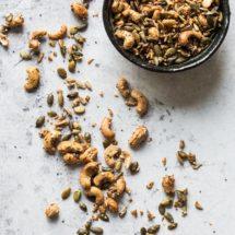 Trailmix met cashew en pompoenpit | simoneskitchen.nl