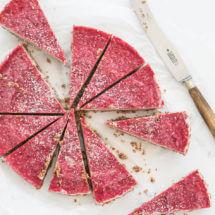No bake cheesecake met frambozen topping | simoneskitchen.nl