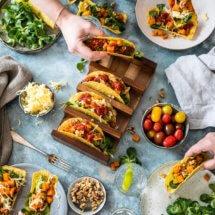 Vegetarische taco's met pittige zoete aardappel