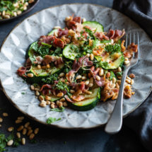 Gegrilde courgettesalade