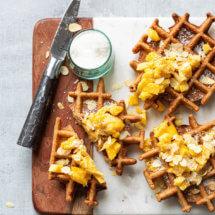 Glutenvrije wafels met mango