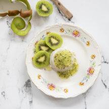 Pannacotta met kiwi en banaan
