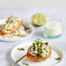 Makreelsalade met zoete aardappel
