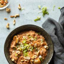 Slowcooker kip en cashew