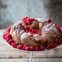 Krans van croissantdeeg
